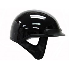THH T 70 1/2 Half Motorcycle Helmet DOT Sun Visor Low Profile Polo Gloss Black