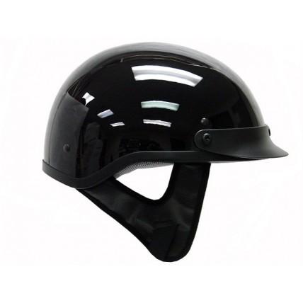 THH T 70 1/2 Half Motorcycle Helmet DOT Sun Visor Low Profile Polo Gloss Black