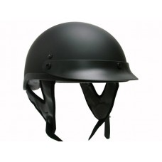 THH T 70 1/2 Half Motorcycle Helmet DOT Sun Visor Low Profile Polo Matte Black