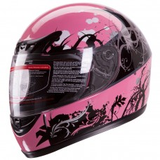 iV2 901 Women's Motorcycle Helmet DOT Full Face Tribal Japanese Pink Black