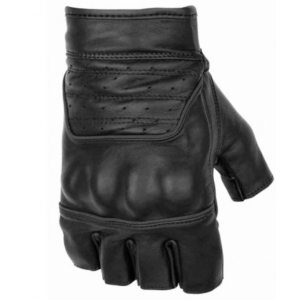 Black Brand Brawler Shorty motorcycle gloves black