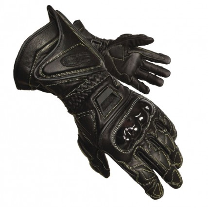 Olympia 340 black motorcycle gloves
