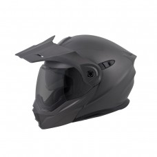Scorpion AT-950 hybrid modular motorcycle helmet matte black silver