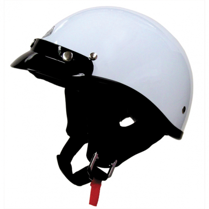 THH T 70 1/2 Half Motorcycle Helmet DOT Sun Visor Low Profile Polo White