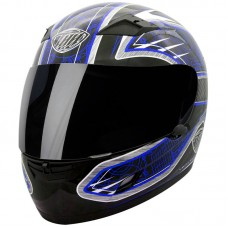 THH TS 39 Full Face Motorcycle Helmet DOT Blue, Black, Silver, Red