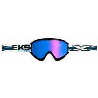 EKS X Limited Edition Motocross Supercross Off Road MX Dirt Bike Enduro Goggles - White, Black, Blue Lens