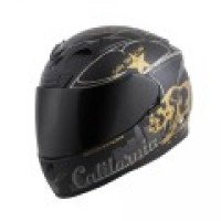 Scorpion EXO-R710 Motorcycle helmet golden state black