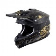 Scorpion VX-35 motorcycle helmet motocross dirt bike DOT Golden State black