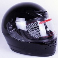 iV2 Street Fighter Full Face Motorcycle Helmet DOT Gloss Black