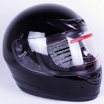 iV2 Street Fighter Full Face Motorcycle Helmet DOT Gloss Black