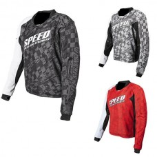 Speed and Strength motorcycle armored jersey black red grey