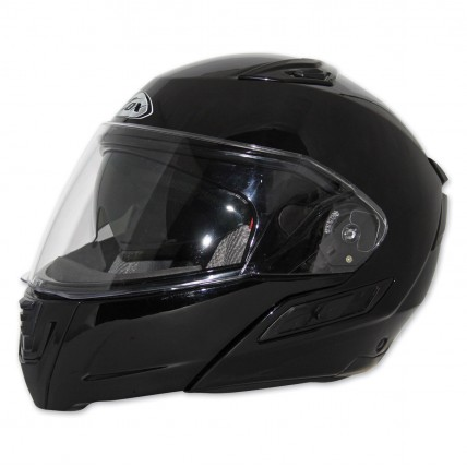 ZOX Condor Modular Motorcycle Helmet Dual Visor DOT Gloss Black Flip Up